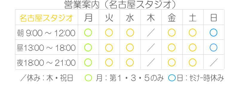 営業案内(名古屋)